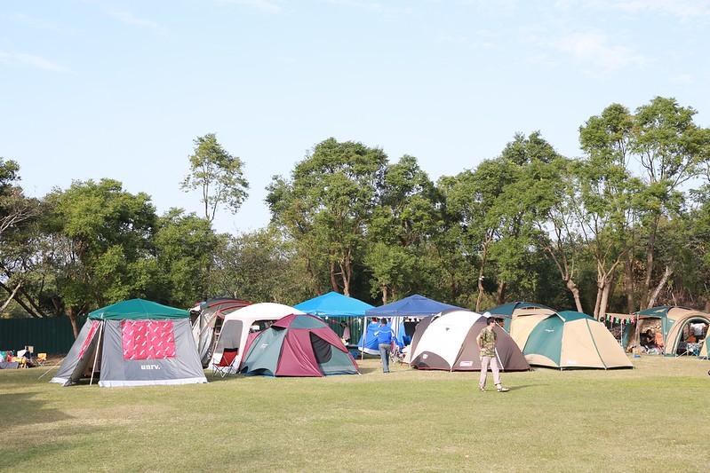 星期六下午帳篷越來越多