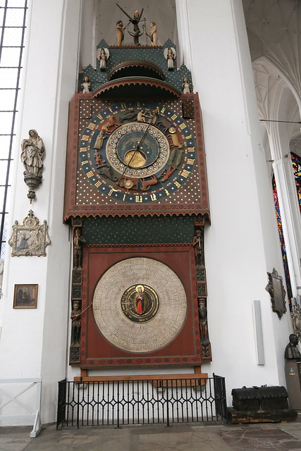 Astronomical clock in St. Mary's Church