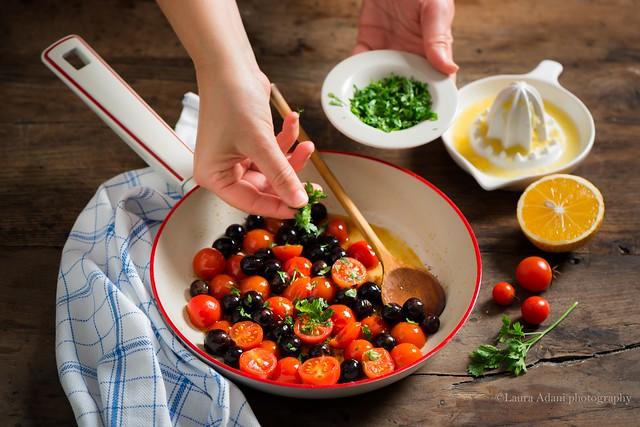 filetto di pangasio MenoTrenta ai pomodorini e olive