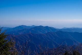 奥多摩三山が見える@小金沢山