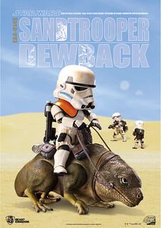 野獸國 Egg Attack Action 系列【濕背獸 & 帝國沙漠兵】星際大戰:曙光乍現 EAA-014S Dewback & Standtrooper