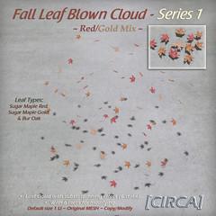 @ The Old Fair ~ [CIRCA] - Fall Leaf Blown Cloud - Series 1 - Red Gold Mix