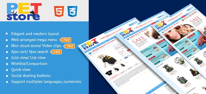 Pet Store v2.0.0 – CMSmart Magento Theme