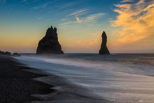 sky seascape rock sunrise iceland nikon alba vik basalt blackbeach islanda d600 reynisdrangar reynisfjall nikon2470f28ed fabiotomat