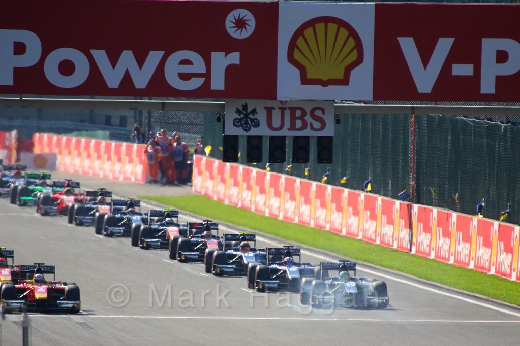 The GP2 Sprint Race at the 2015 Belgium Grand Prix