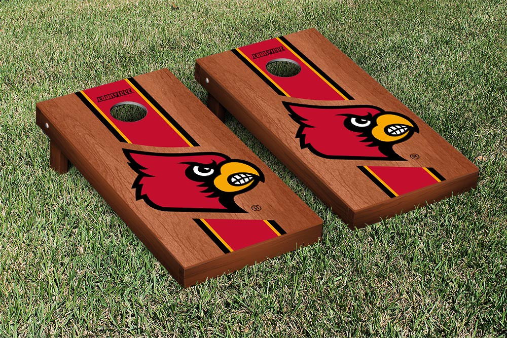 Louisville Cardinals Rosewood Stained Stripe Version