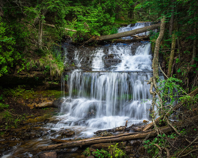 Wagner Falls, Waterfall, Waterfalls, Falls, Munising, MI, Michigan