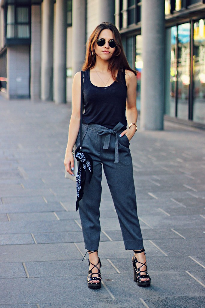 Topshop belted trousers the little magpie 1