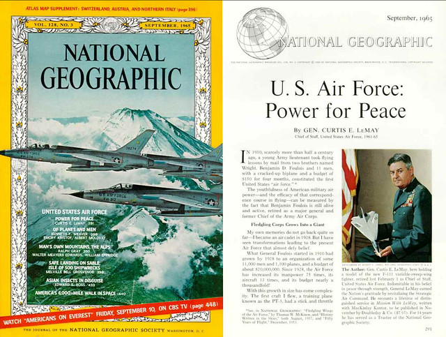 NATIONAL GEOGRAPHIC September 1965 (1) - U.S. Air Force: Power for Peace