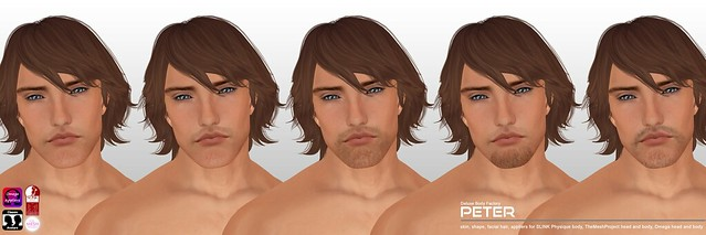 [DBF] Peter skin shape appliers facial hair options AD