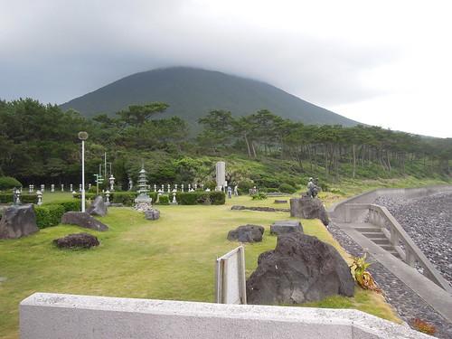 開聞岳と花瀬望比公園