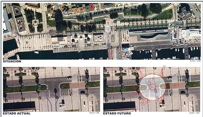 Comienzan las obras de la rotonda de la terminal de cruceros