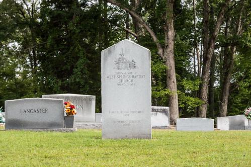 Original church site marker