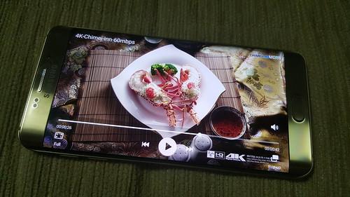 ดูคลิป 4K บน Samsung Galaxy S6 edge+
