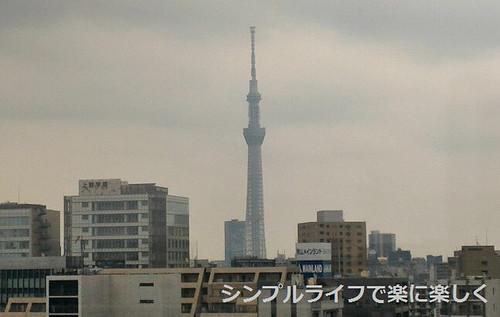 東京3日目、博物館・屋上からのスカイツリー