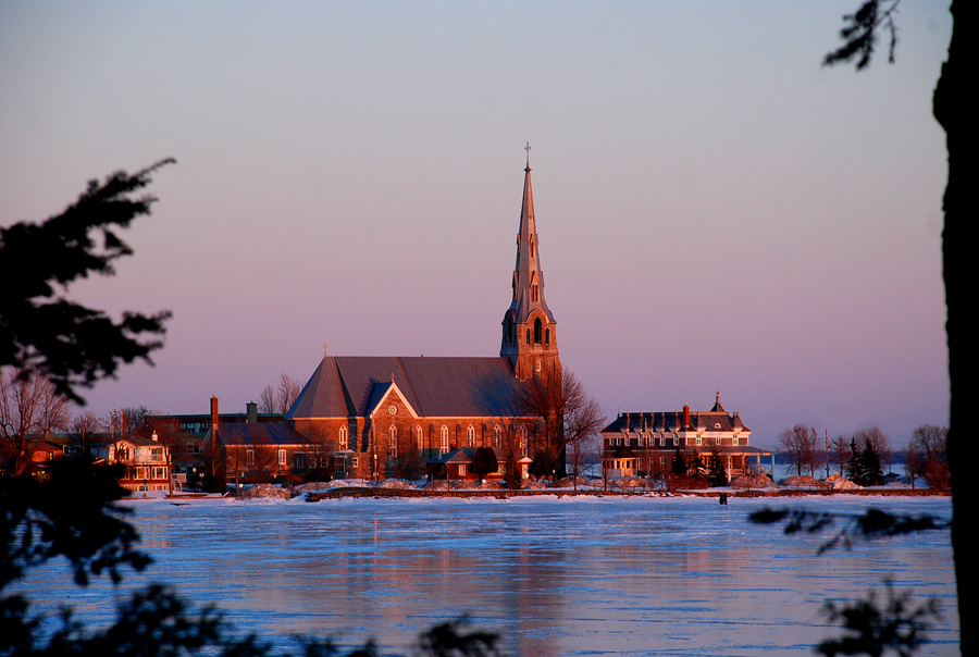 Church at Sunset, Pointe-Claire, February 14, 2009