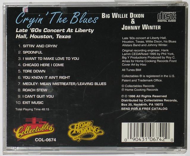 JOHNNY WINTER WILLIE DIXON CRYIN' THE BLUES