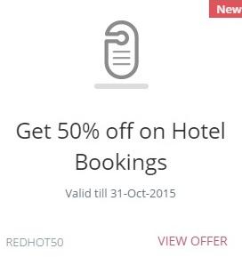 Redbus Flat 50% offer