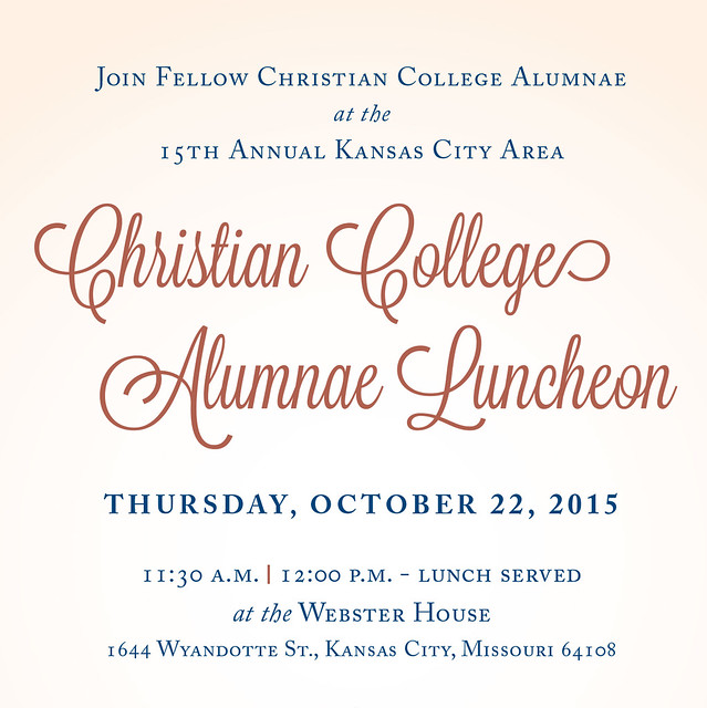 KC Christian College Alumnae Luncheon 2015