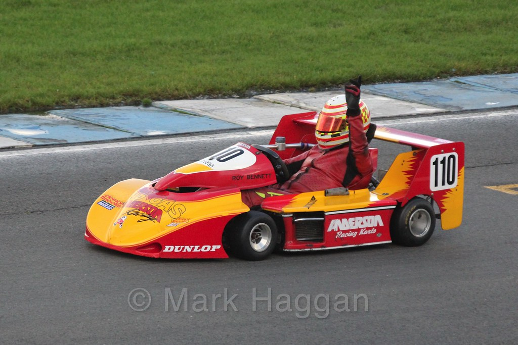 Roy Bennett in his Anderson Gas Gas in Superkart racing during the BRSCC Winter Raceday, Donington, 7th November 2015
