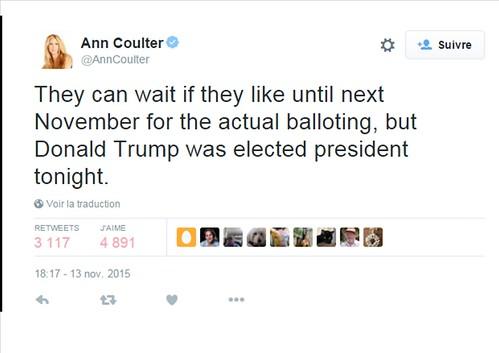 Ann Coulter twitter 13 11 15