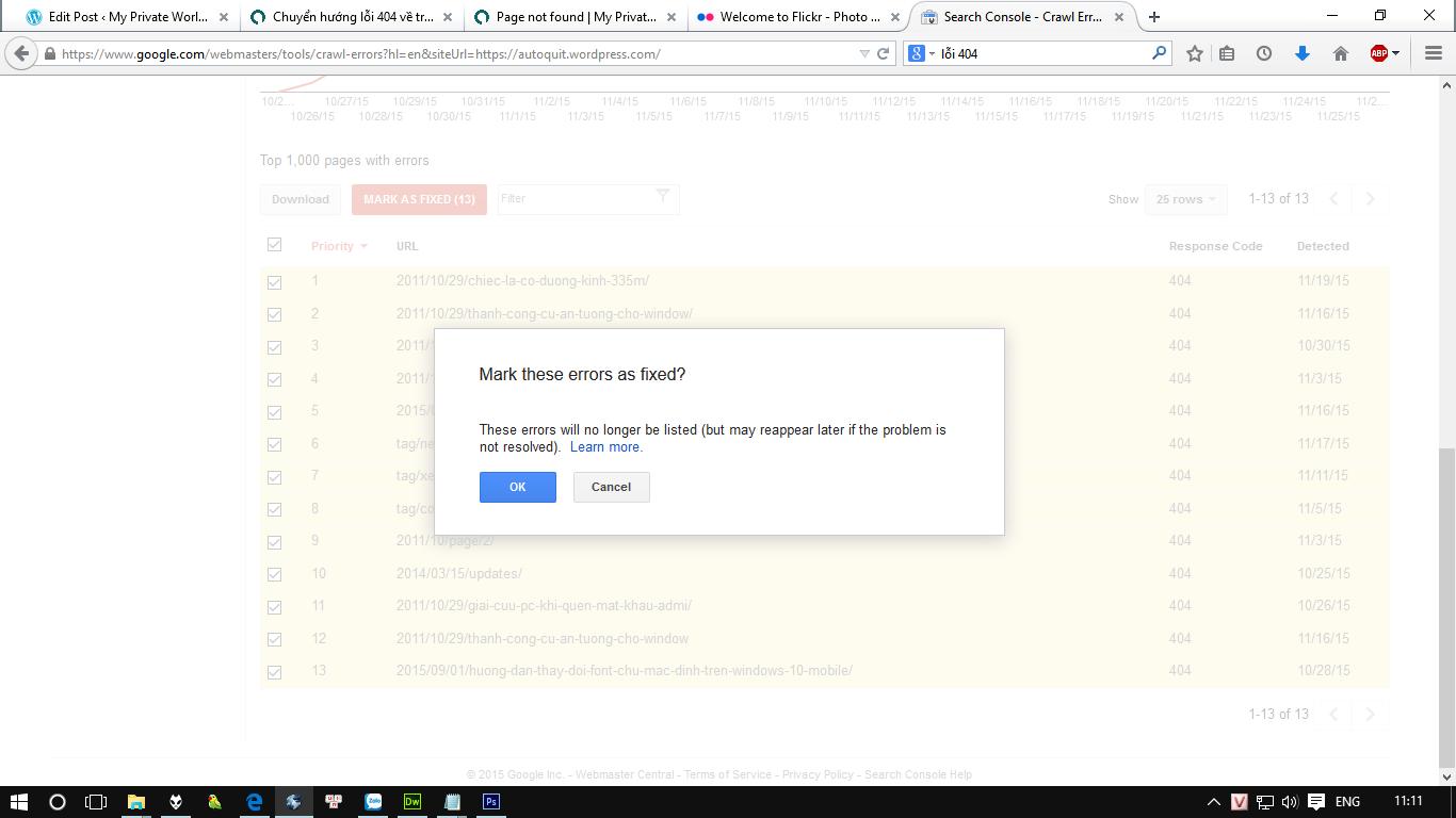 Chuyển hướng lỗi 404 về trang chủ hoặc trang bất kỳ trong WordPress