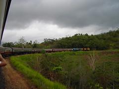 Cairns to Kuranda train trip. On a tight curve.