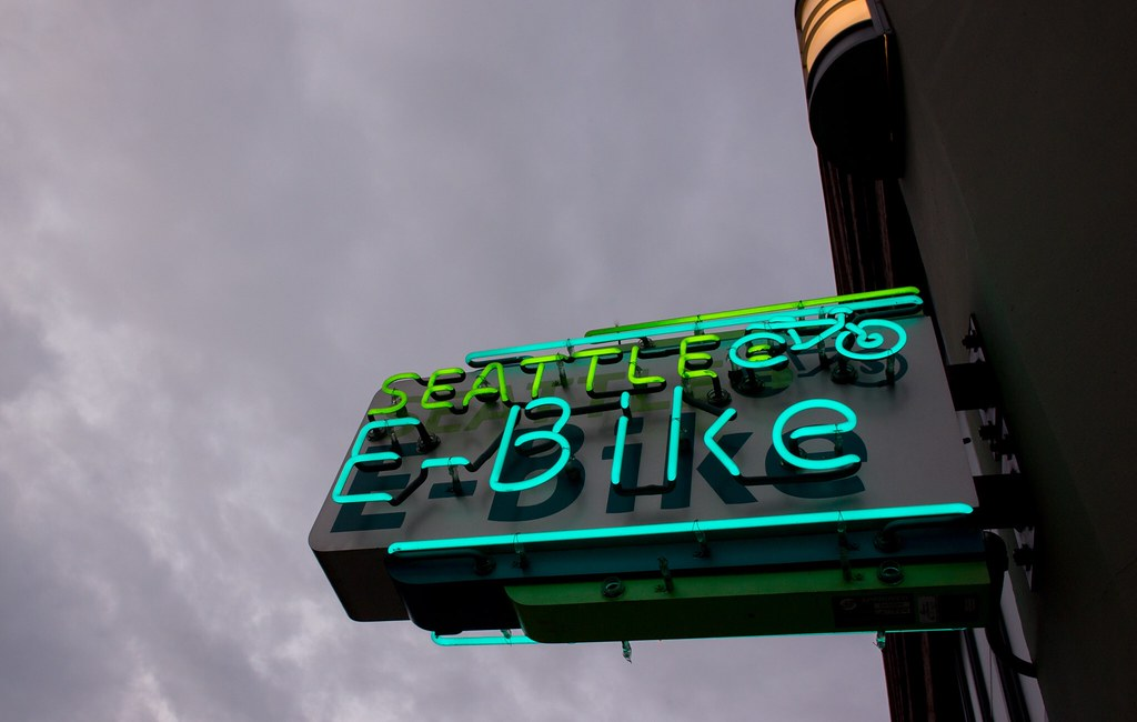 Seattle E-Bike sign