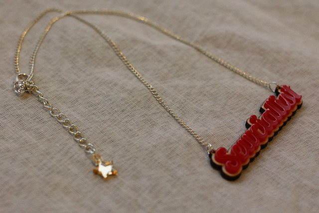 Sewcialist Necklace by English Girl at Home and Working Clasp