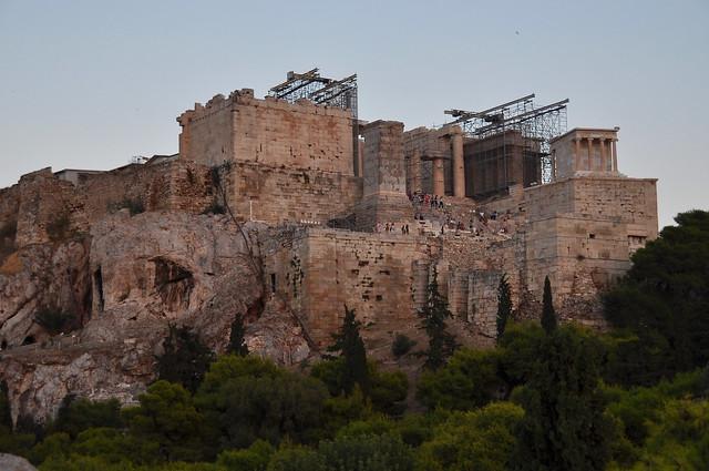 Header of Acropolis of Athens