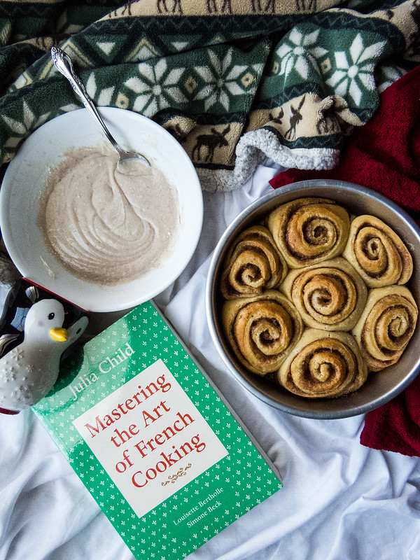 Eggnog Cinnamon Rolls with Gingerbread Spiced Icing + It's Been One Year