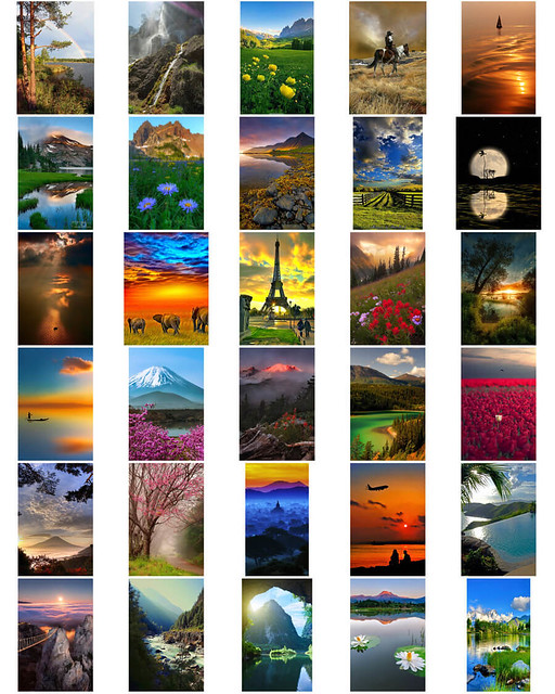 The fabulous nature backgrounds for Photoshop