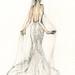 wedding dress illustration by Evelyn Rowland