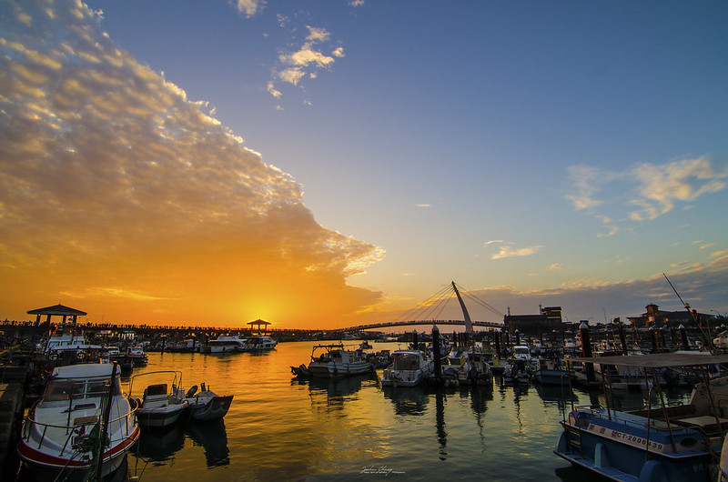 Sunset of Tamsui Fisherman's Wharf