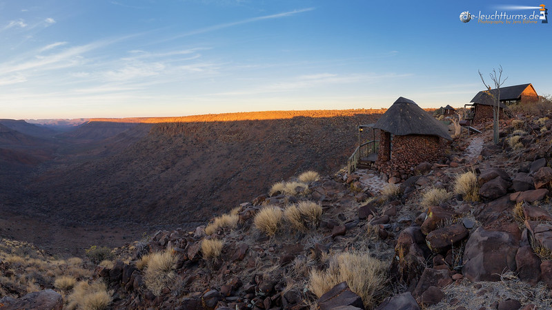 Grootberg Lodge at sunrise