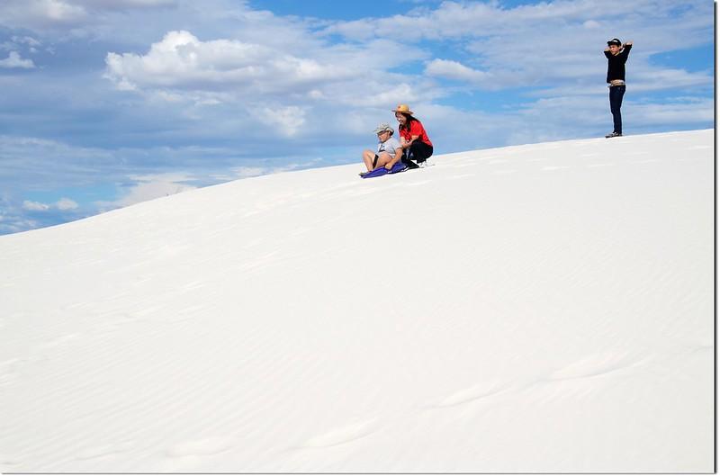 Sledding at White Sands National Monument  2