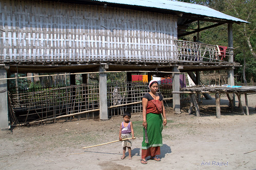 Sonowal Kachari, mother and child, Majuli Island