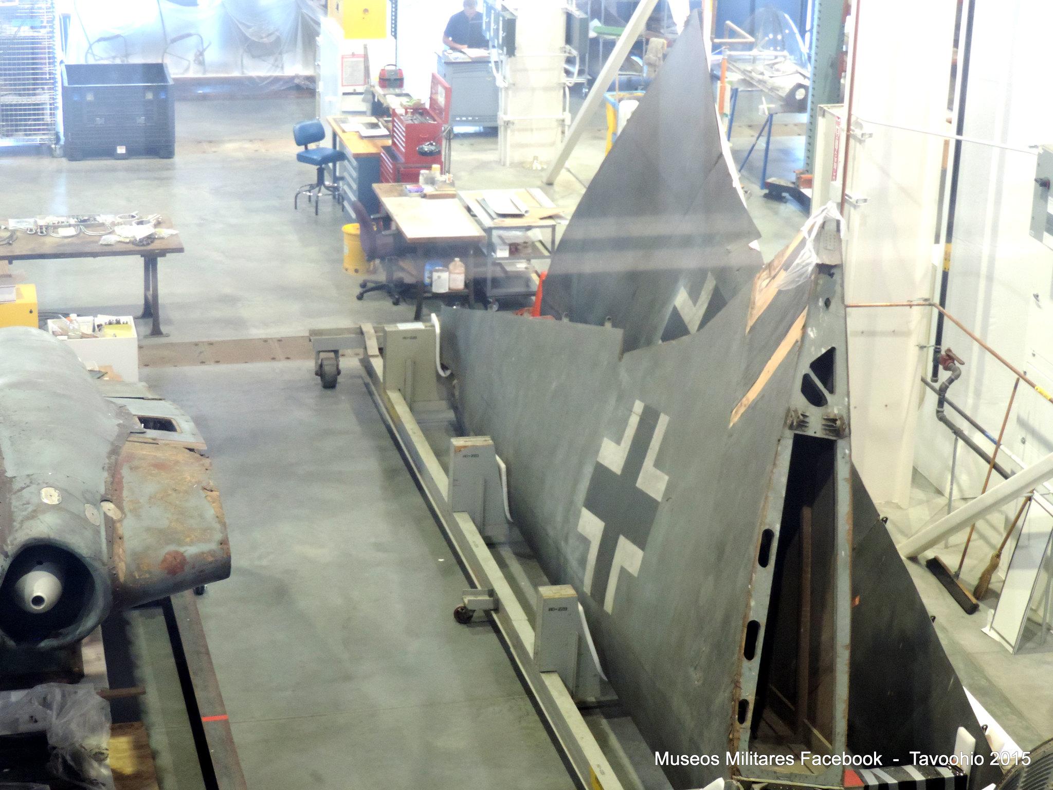 Horten Ho 229 V3 esta en proceso de conservación en el Mary Baker Engen Restoration Hangar en el Steven F. Udvar-Hazy Center
