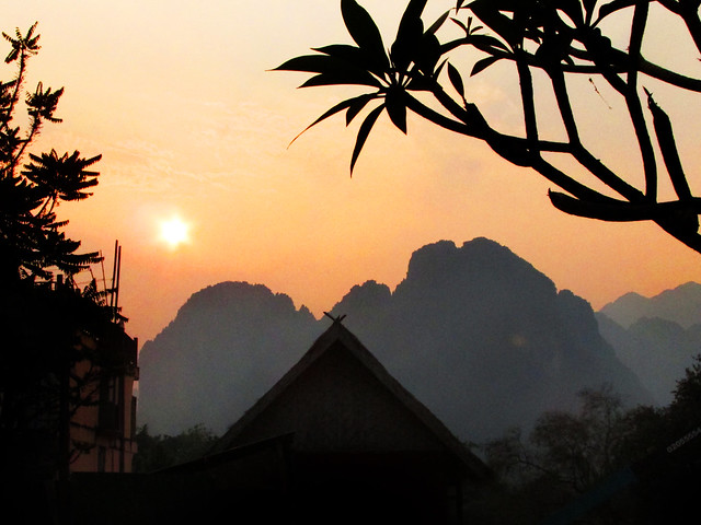 Laos Tropical Sunset by Sherrie Thai of Shaireproductions.com
