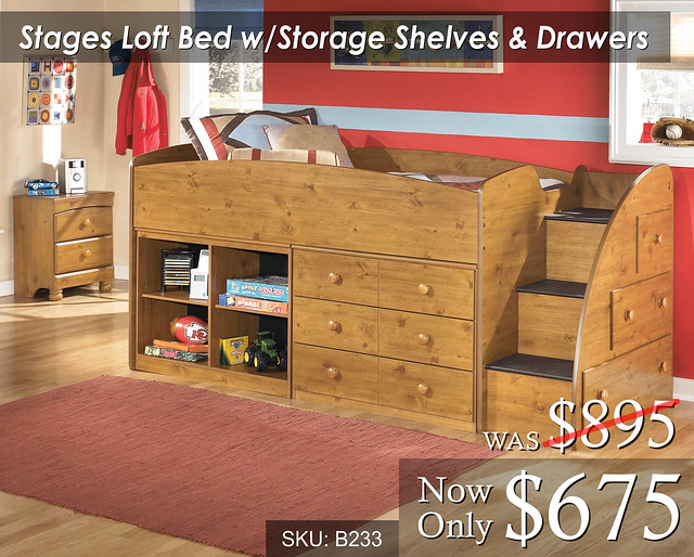 Stages Loft Bed wStorage and Drawers