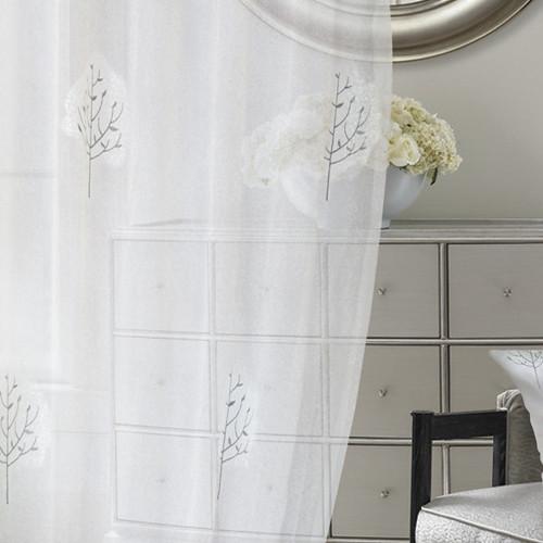 雪樹銀花 冬天白雪 無接縫窗紗布 DB2390002