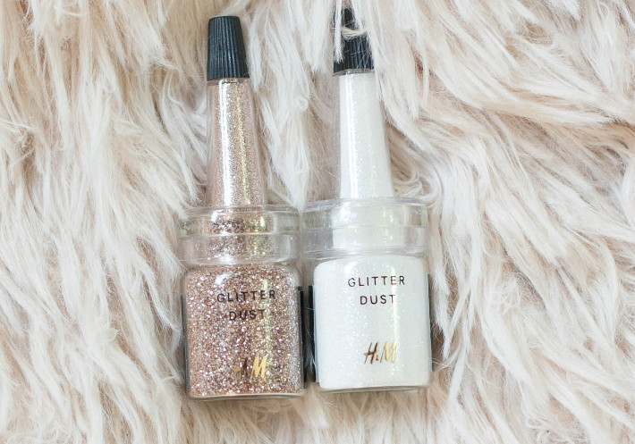 H&M beauty loose glitter review: Catherine Wheel and Break the Ice