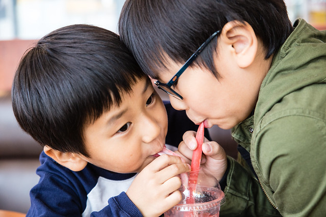Kids like strawberry juice.