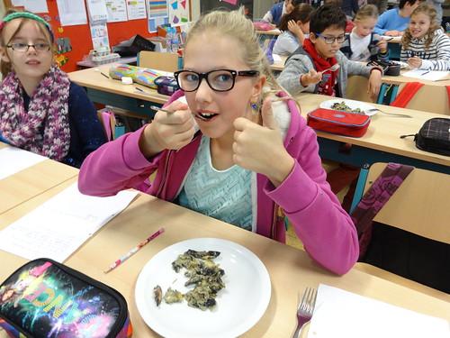 Koken met champignons in L5