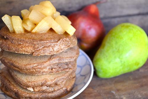 Barley-Pancakes-Pear-Compote