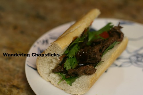 Banh Mi Pho Bo (Vietnamese Beef Noodle Soup-Spiced Sandwich) 1