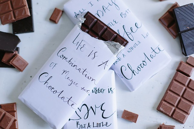 Printable chocolate wrapper