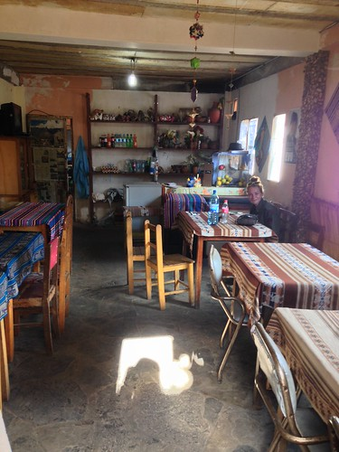 A cheap and cheerful restaurant.  Isla del Sol, Bolivia.