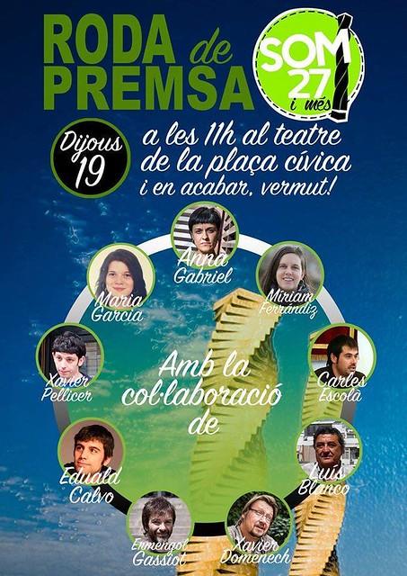Roda de premsa dijous 19 de novembre a Plaça civica UAB a Cerdanyola del Vallès