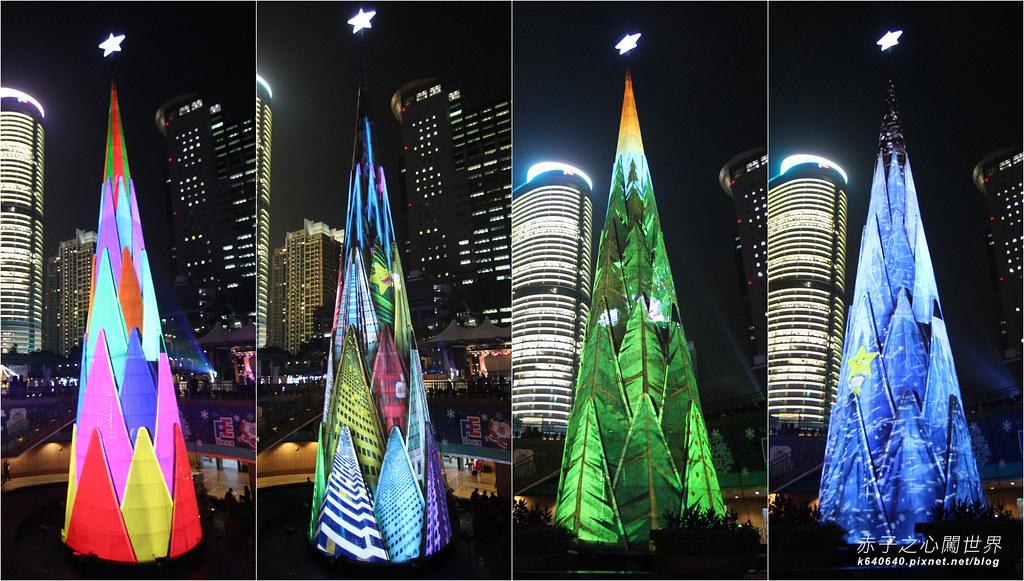 新北歡樂耶誕城- 聖誕樹拼圖